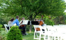 outdoor concert string quartet