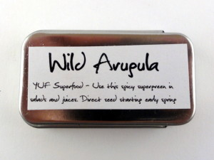 YUF Superfood Seed Tins Back Wild Arugula