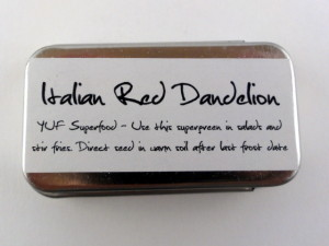 YUF Superfood Seed Tins Back Italian Dandelion