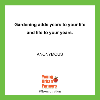 """Gardening adds years to your life and life to your years."" - Anon"