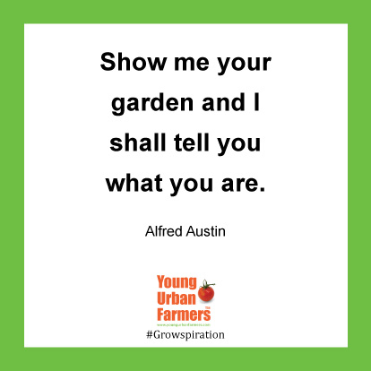Show me your garden and I shall tell you what you are. -Alfred Austin