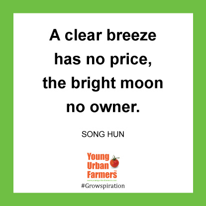 A clear breeze has no price, the bright moon no owner.-Song Hun