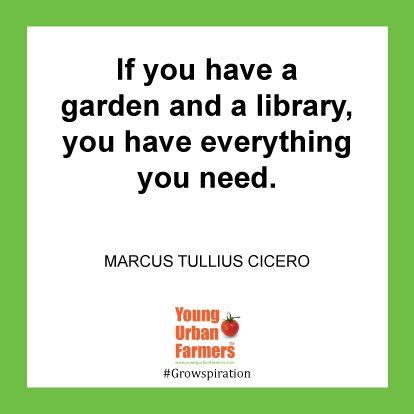 If you have a garden and a library, you have everything you need. -Marcus Tullius Cicero