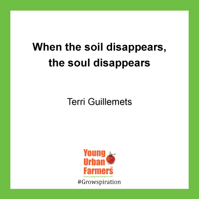 When the soil disappears, the soul disappears - Terri Guillemets