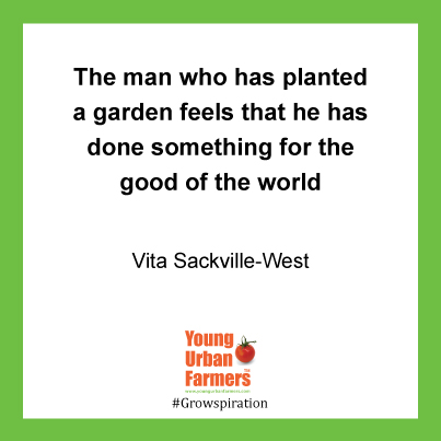 "The man who has planted a garden feels that he has done something for the good of the world."" - Vita Sackville-West, poet and novelist, 1892-1962"