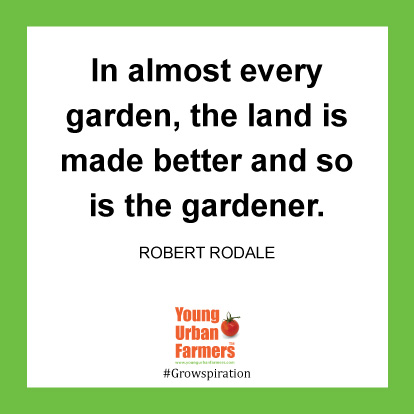 In almost every garden, the land is made better and so is the gardener. -Robert Rodale