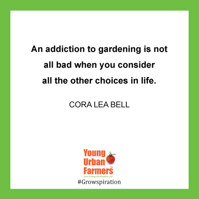 """An addiction to gardening is not all bad when you consider all the other choices in life."" - Cora Lea Bell"